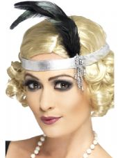1920's Charlston Headband In Silver